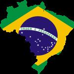 brazil, map, flag